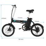 ANCHEER 16 Inch Folding Electric Bike Review 6