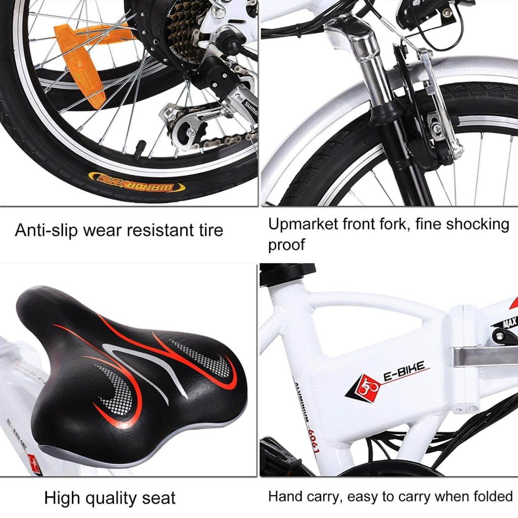 ANCHEER 20 INCH FOLDING ELECTRIC BIKE REVIEW 10