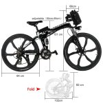 ANCHEER 26 inch Folding Mountain Electric Bike Review 7
